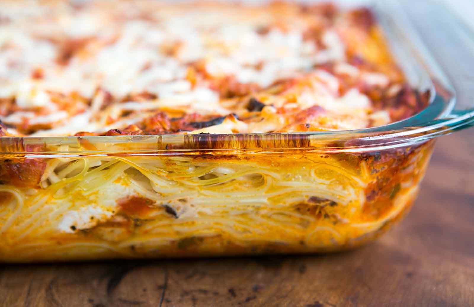 Baked Spaghetti Lasagna 1