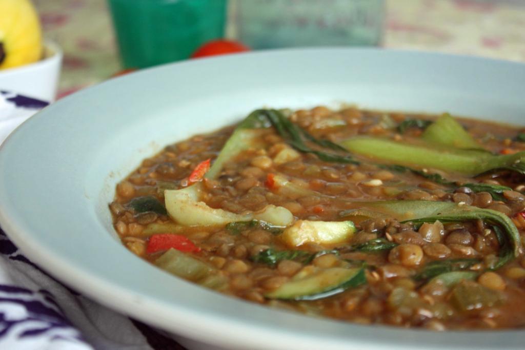 Bok Choy Lentil Soup Recipe