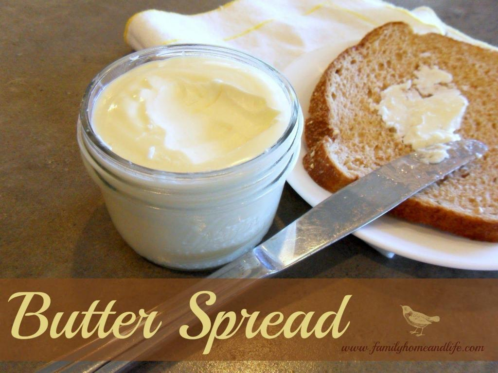 Homemade Soft Butter Spread Recipe