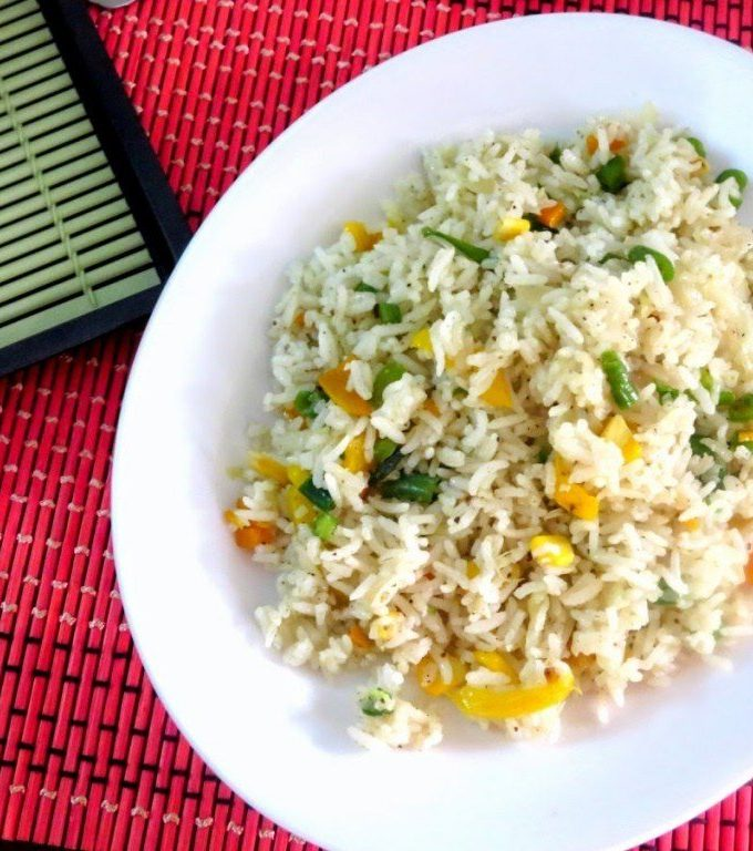 Spiced corn and rice