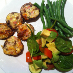 Stuffed Mushrooms: Bacon Cream Cheese