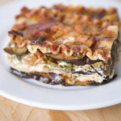 Vegetarian Eggplant and Spinach Lasagna