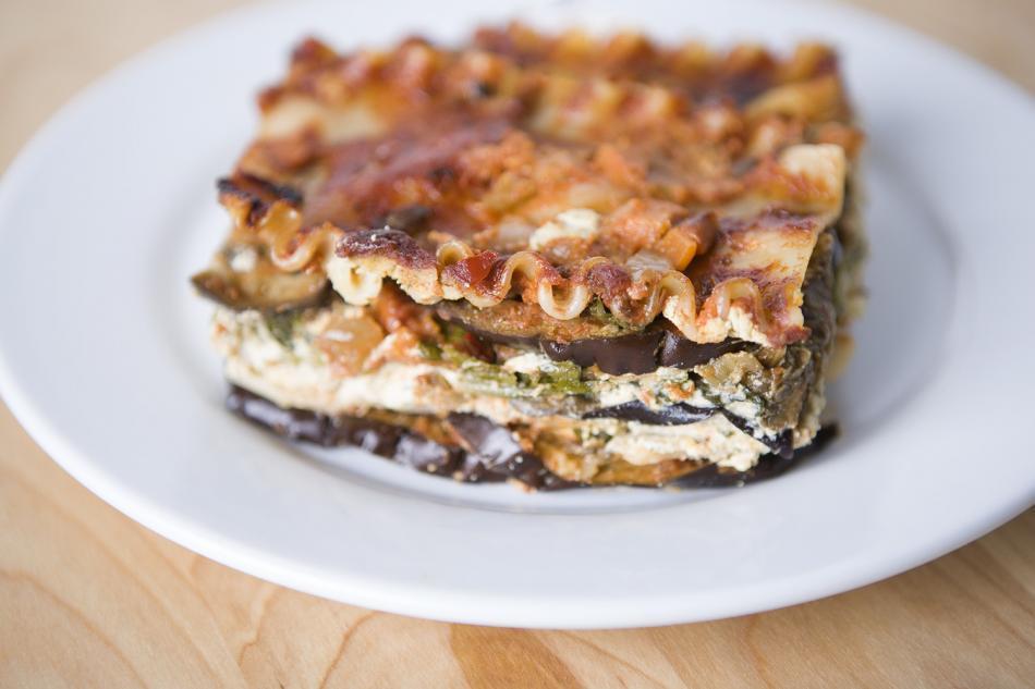 Vegetarian Eggplant and Spinach Lasagna