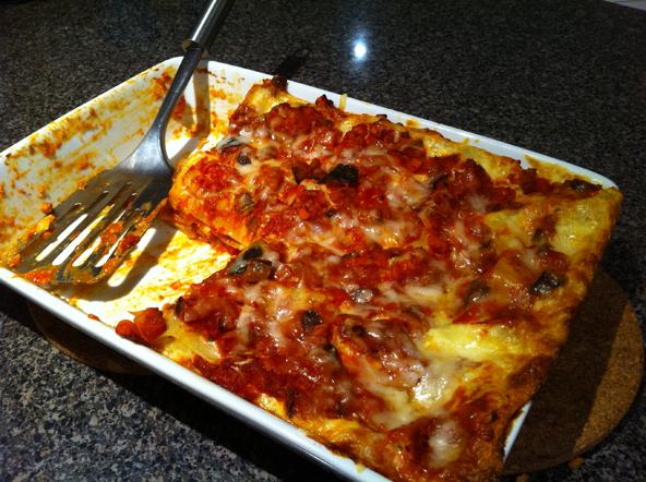 bacon lasagna light recipes