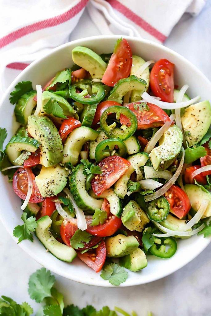 Avocado Tomato Cucumber Salad recipe