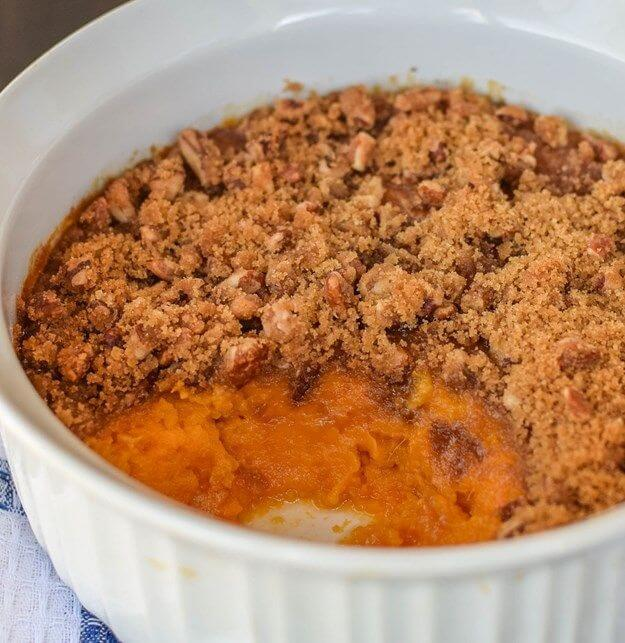 Baked Sweet Potato with Pecan Crumble