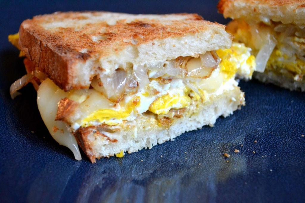Caramelized Onions and Egg Sandwich recipes