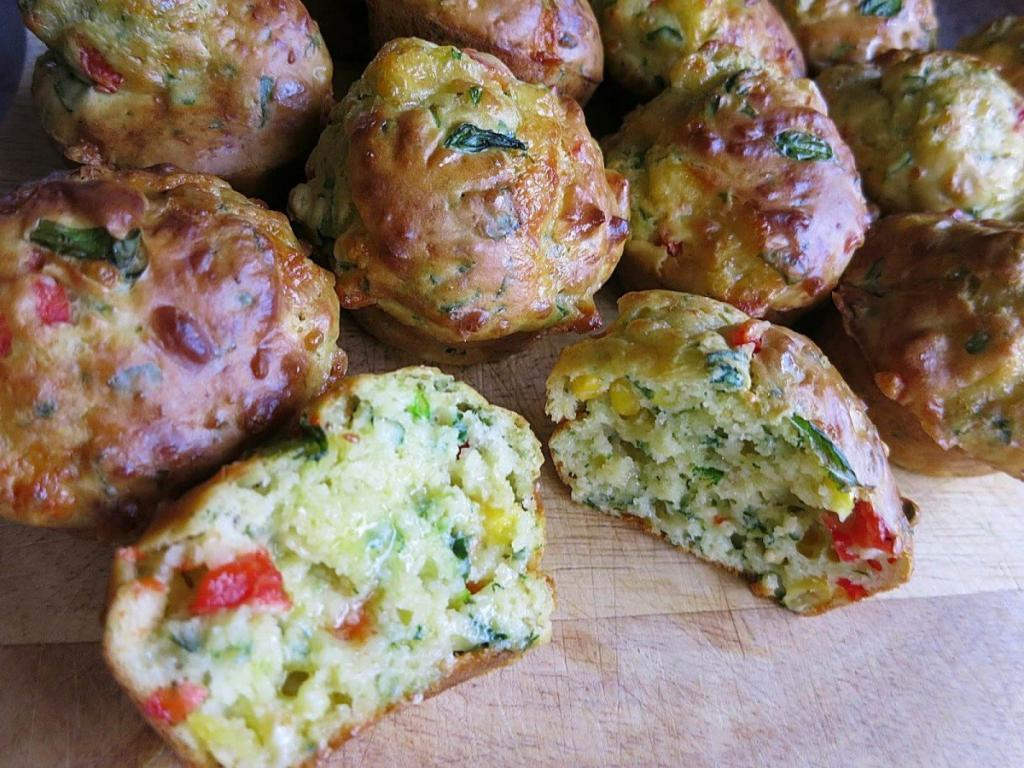 Cheese and Veggie Muffin