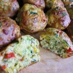 Cheese and Veggie Muffin