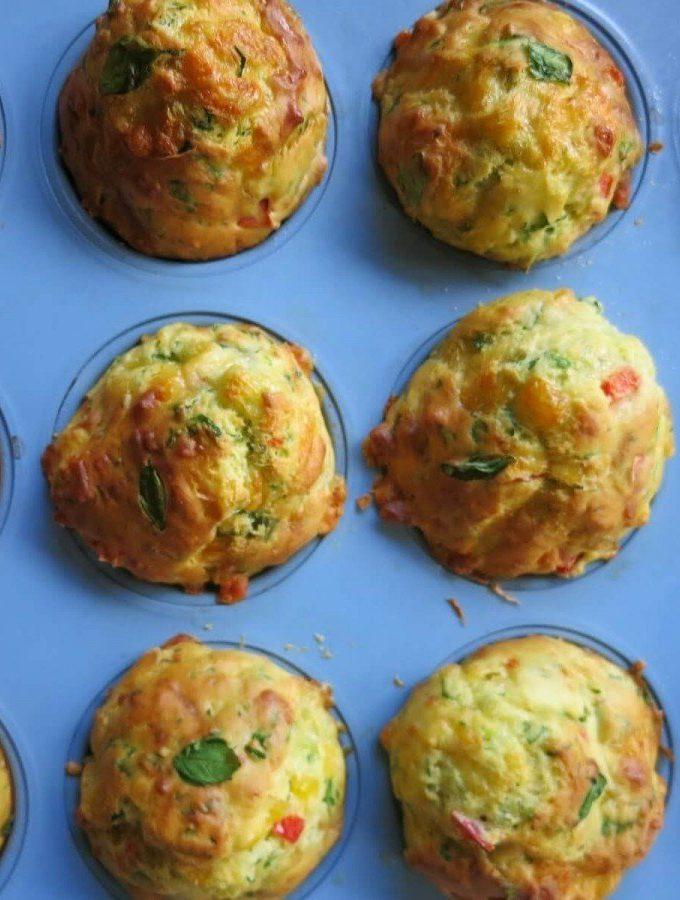 Cheese and Veggie Muffins
