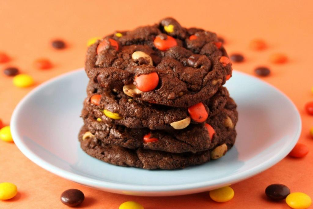Chocolate Reeses Pieces Cookies recipes