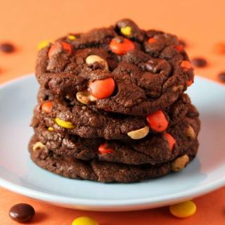 Chocolate Reeses Pieces Cookies Recipe
