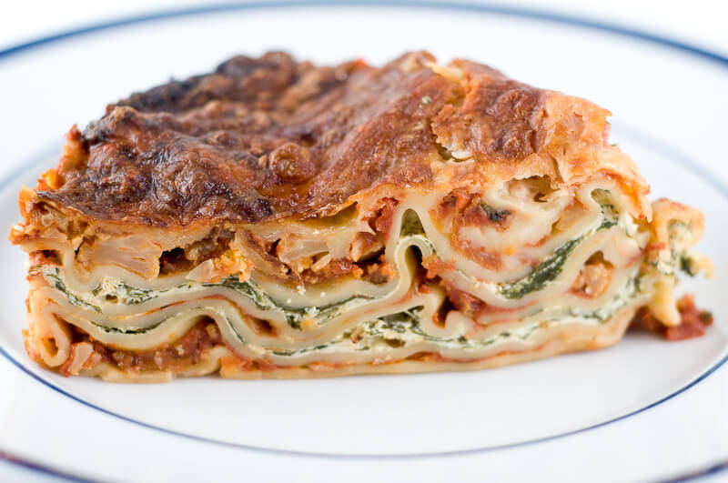 Easy Vegetarian Lasagna with Spinach and Ricotta