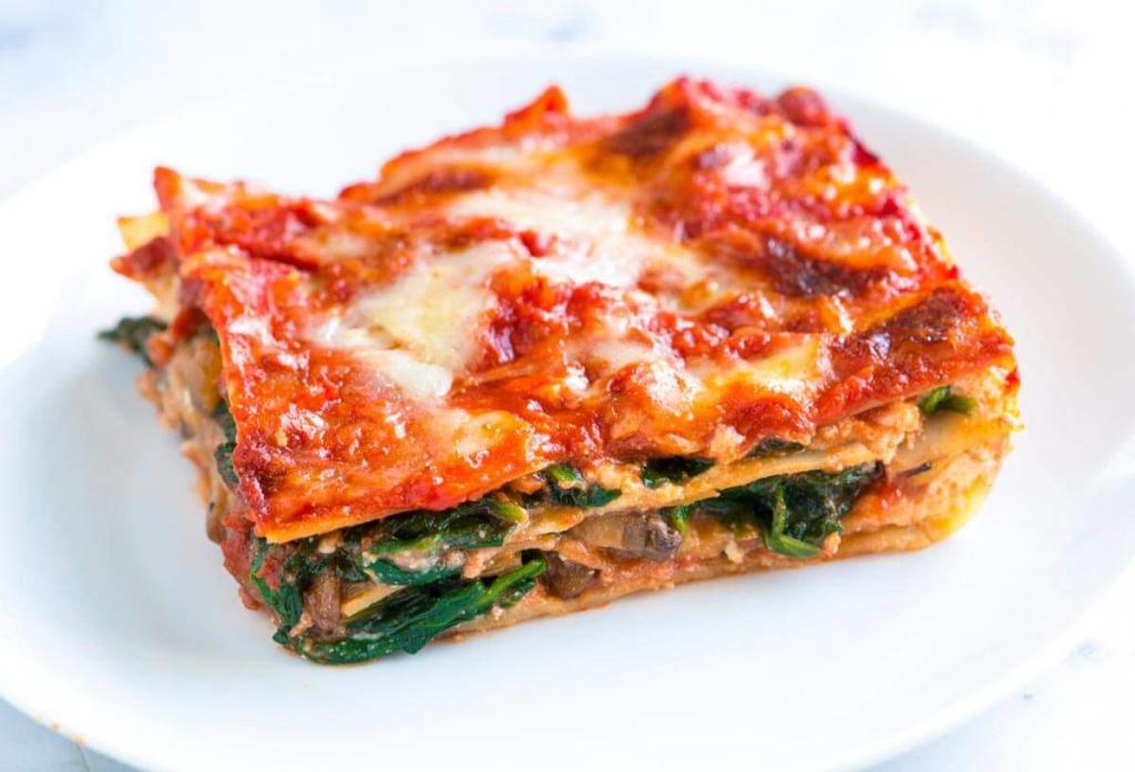 Easy Vegetarian Lasagna with Spinach recipe