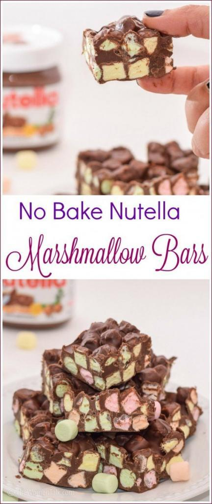 Nutella Marshmallow Bars recipe