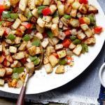 Potato Green Pepper Stir Fry Medley