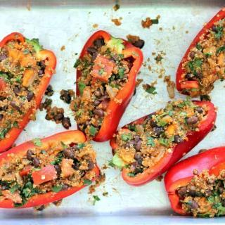 Potato Stuffed Bell Peppers Recipe