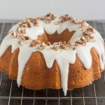 Pumpkin Pound Cake with Cream Cheese
