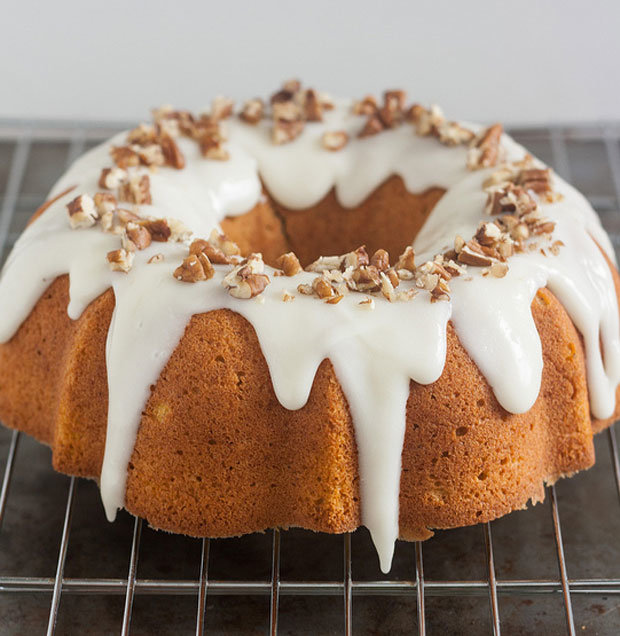 Pumpkin Pound Cake with Cream Cheese