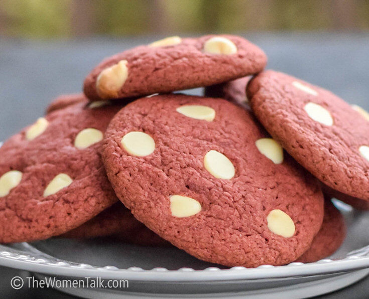 Red Velvet White Chocolate Chip Cookies recipe