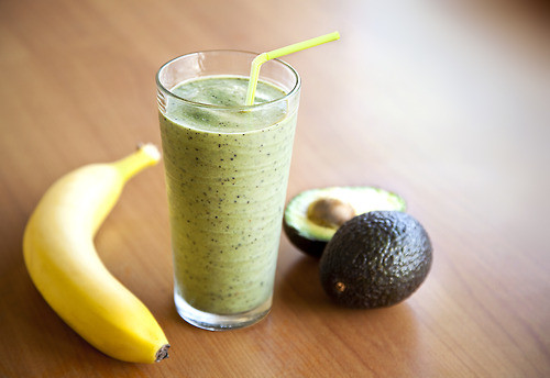 Rich and Creamy Banana Avocado Pear Smoothie