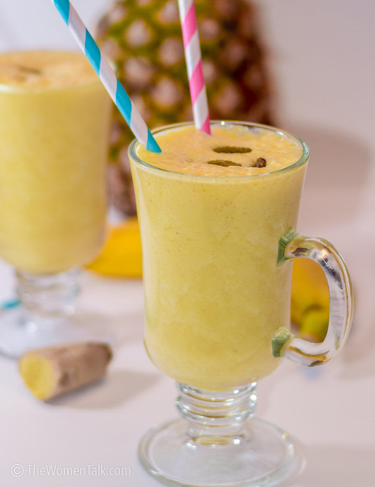 Super Healthy Pineapple Ginger Smoothie