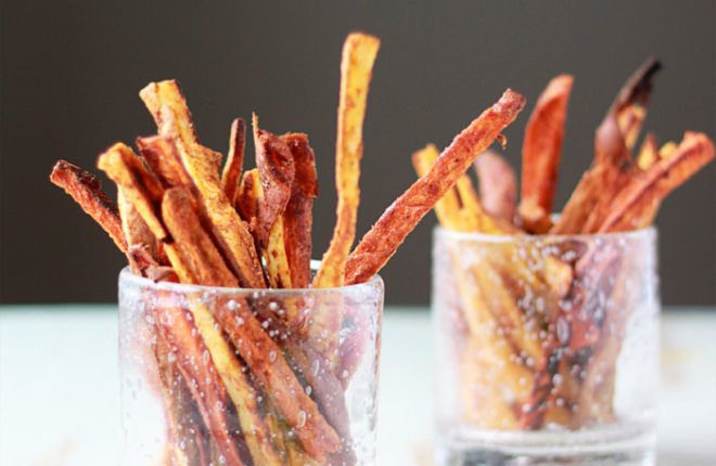 Sweet and Spicy Baked Sweet Potato Fries recip