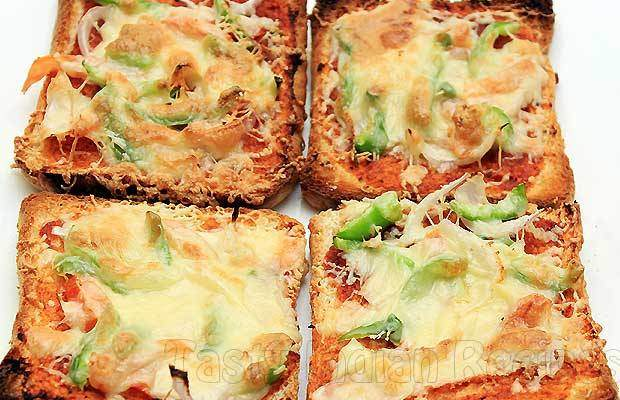 Veggie Bread Pizza for Toddlers recipe