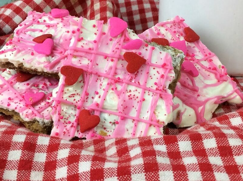 White Chocolate Valentines Cracker Bark recipes