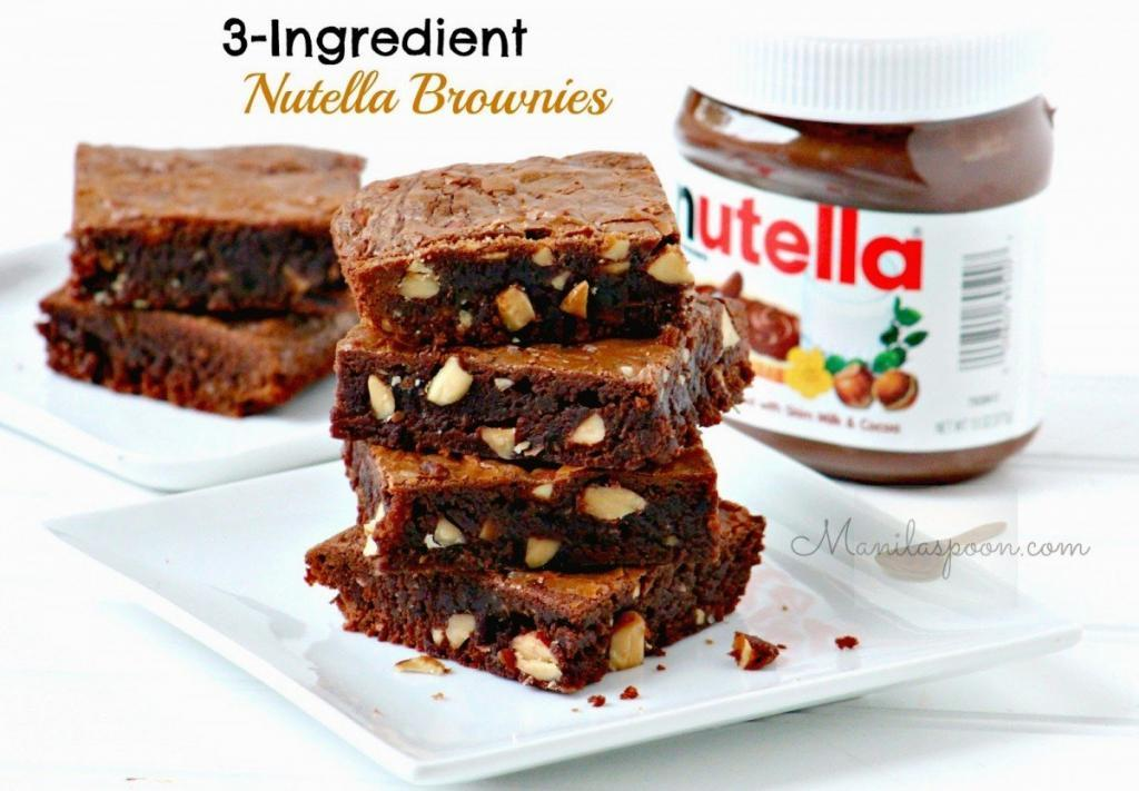 nutella Brownies walnut