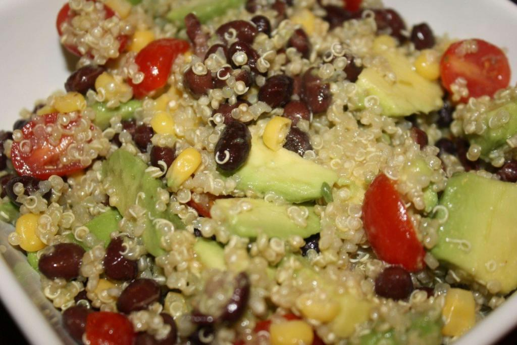 Black Bean and Tomato Quinoa with Avocado Recipe