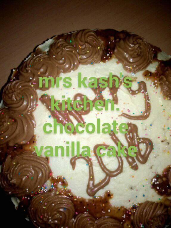 Chocolate Vanilla Cake Recipe1