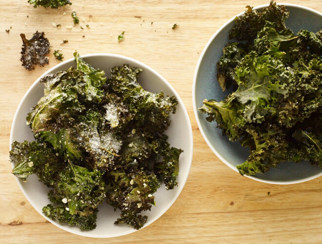 Crispy Baked Kale Chips Recipe