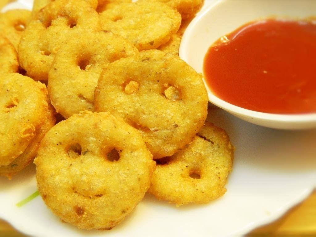 Crispy Potato Chickpeas Smiley Fries
