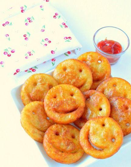 Crispy Potato Chickpeas Smiley Fries Recipe