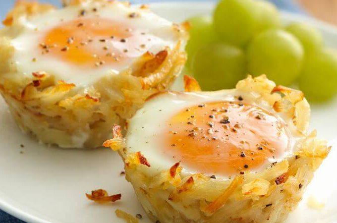 Hash Brown Eggs and Veggie Breakfast Muffins Recipe