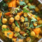 Mushroom, Chickpea and Green Pepper Curry Recipe