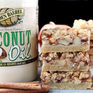 No Bake Apple Coconut Fudge Bars