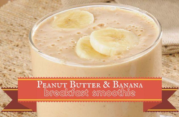 Peanut Butter Banana Breakfast Smoothie Recipe