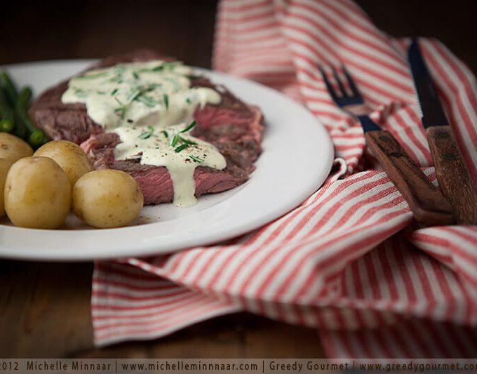 Prime Rib with Garlic Blue Cheese Sauce Recipe