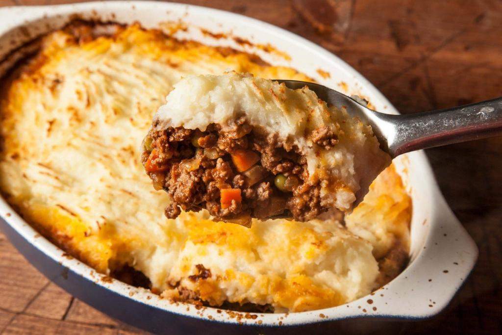 Shepherds pie with ground beef Recipe