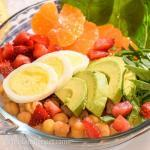 Super Healthy Chickpeas Spinach Salad