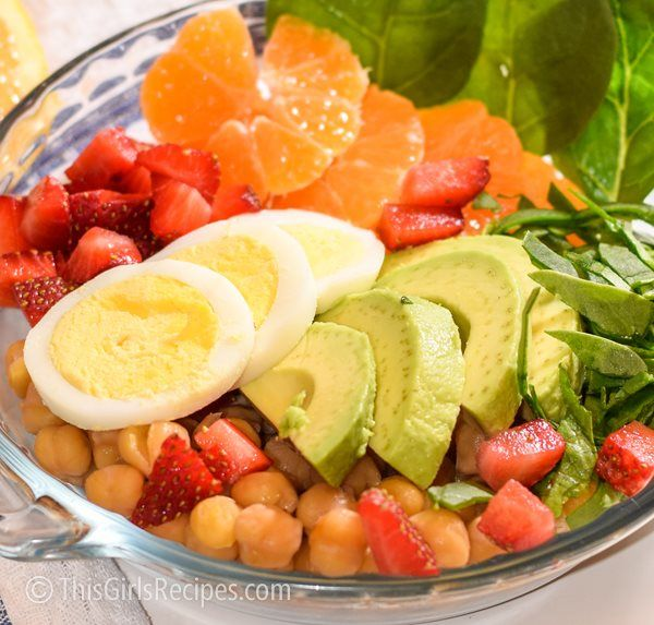 Super Healthy Chickpeas Spinach Salad recipes