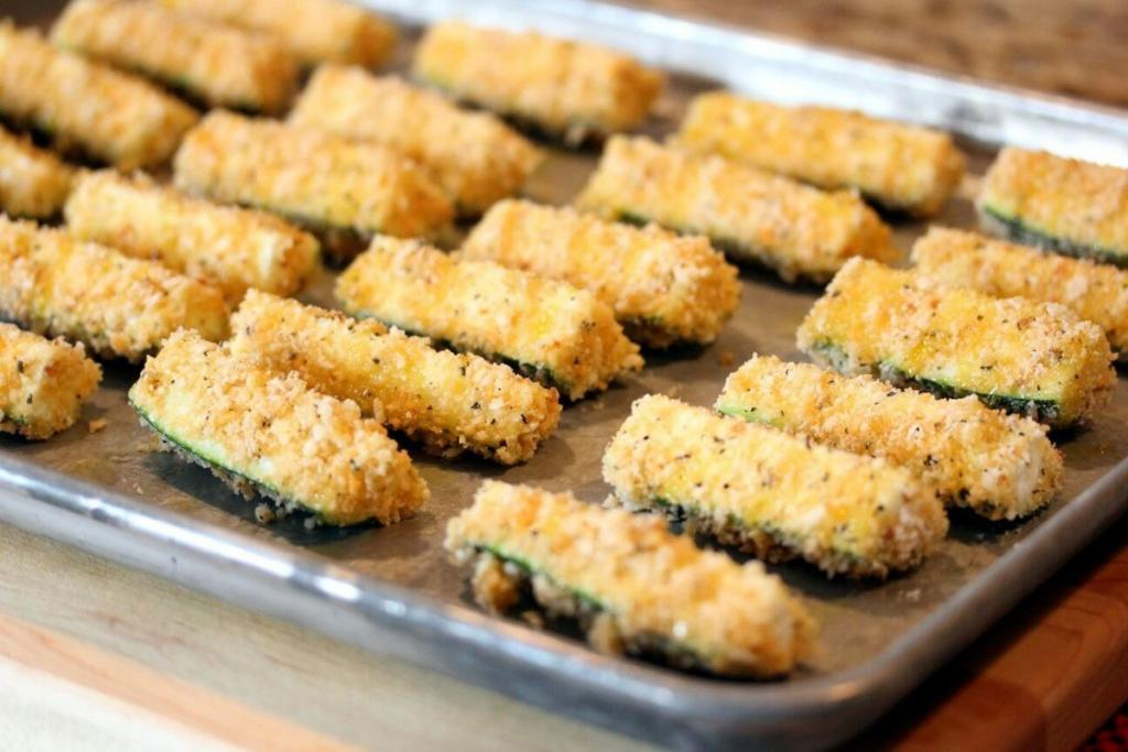 Zucchini Baked Crispy Fries Recipes