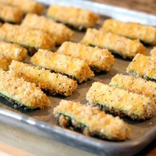 Zucchini Baked Crispy Fries Recipe