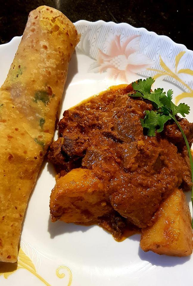 Lamb Kalia with Dhall Roti Recipe