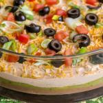 Seven Layer Bean Dip, Great Appetizer for a Crowd