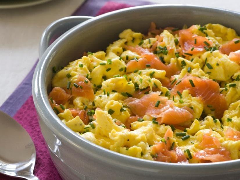 Tasty Salmon Scrambled Egg Recipe