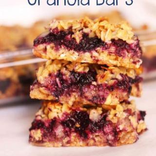 Blueberry Peach Granola Bars Recipe