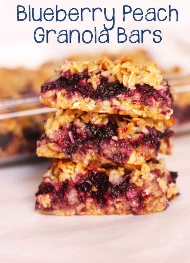 Blueberry Peach Granola Bars
